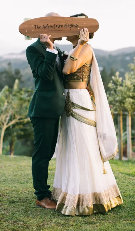 An emerald groom suit for a refreshing forest wedding