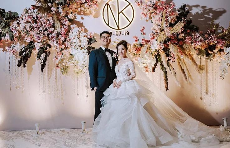 A sakura inspired opulent wedding