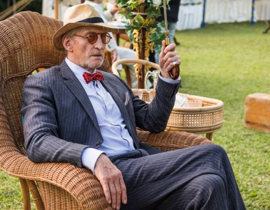 Dressing Charles Dance on The Singapore Grip